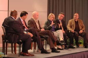 The Panelists in action during the 2007 Media Summit.