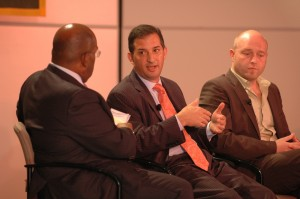 Moderator Al Roker with panelists Paul Condolora and Russell Quy.