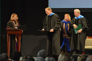 Honorary degree presentation to Charlie Rose.