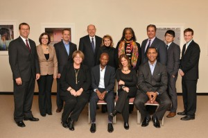 The Panelists, Career Connectors, executive board, and President Deborah F. Stanley at the 2011 Media Summit.