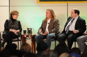 Panelists Erica Farber, J. Scott Dinsdale, and Steve Leblang.