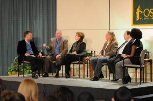 The Panelists in action during the 2008 Media Summit.