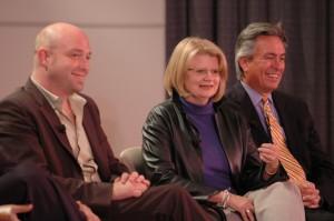 Panelists Russell Quy, Geraldine B. Laybourne,   and Doug McMonagle.